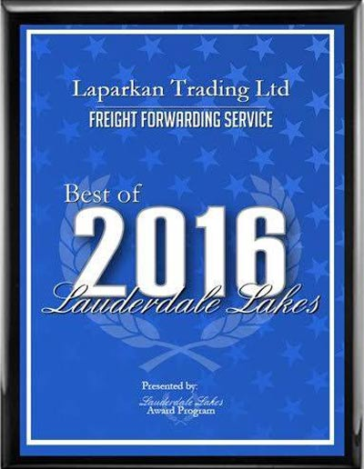 Laparkan-Trading-Ltd-Receives-2016-Best-of-Lauderdale-Lakes-Award